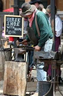 Blacksmith at the Santa Clarita Cowboy Festival
